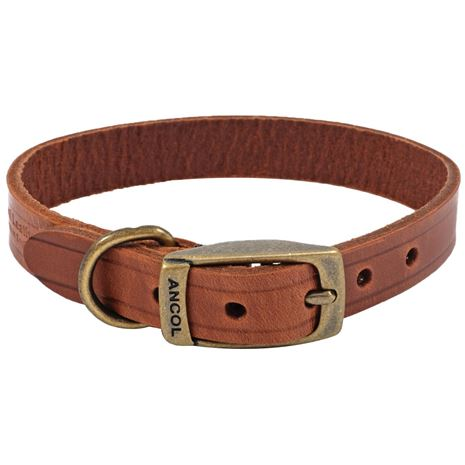 Ancol Heritage Leather Collars and Lead - Chestnut