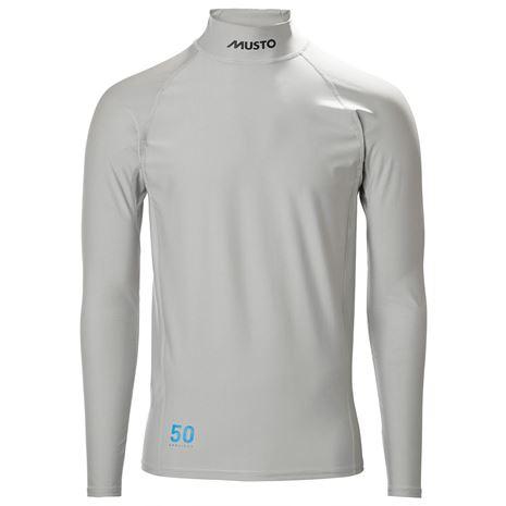 Musto Sunblock Dynamic Long Sleeve T-Shirt - Light Grey