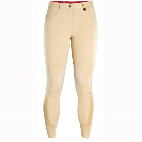 Caldene Derby Low Waist Silicone Knee Breeches - Beige