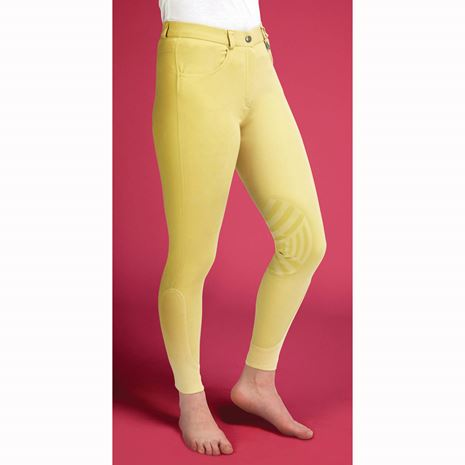 Caldene Derby Low Waist Silicone Knee Breeches - Canary