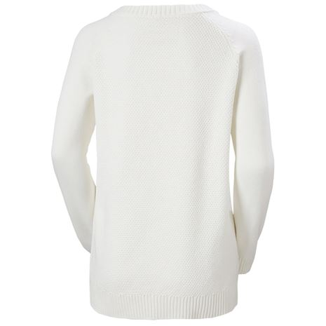 Helly Hansen Womens Fjord Cable Knit  Jumper - Off White - Rear