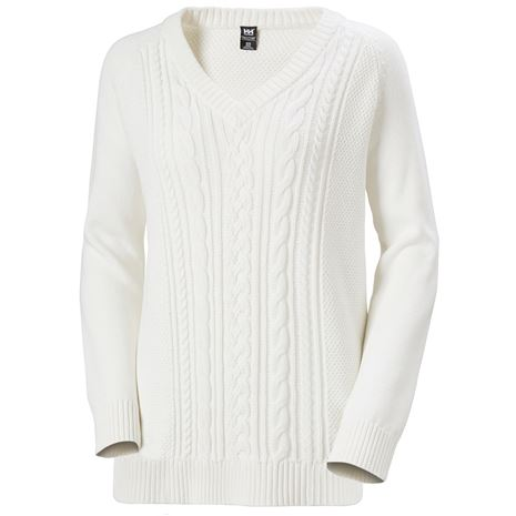 Helly Hansen Womens Fjord Cable Knit  Jumper - Off White