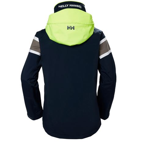 Helly Hansen Womens Salt Flag Jacket - Graphite Blue - Rear