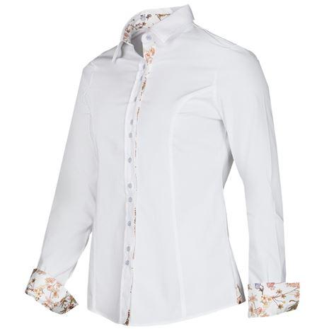 Baleno Mary Shirt - White/Flowers