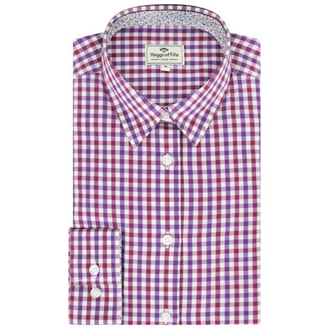 Hoggs of Fife Becky II Ladies Cotton Shirt - Violet