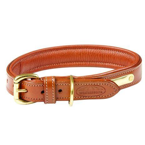 WeatherBeeta Padded leather Dog Collar - Tan