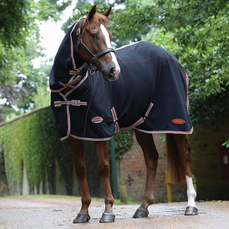 WeatherBeeta Therapy-Tec Combo Neck Cooler Rug - Black/Silver/Red