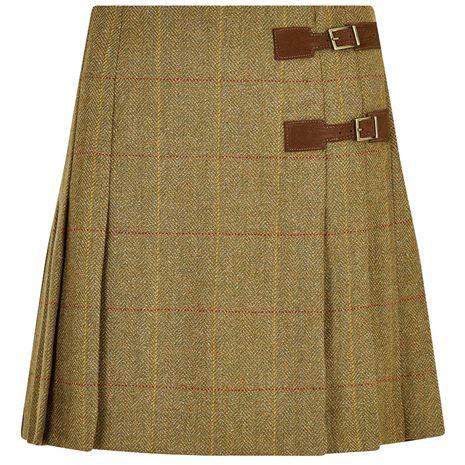 Dubarry Blossom Pleated Tweed Skirt - Elm