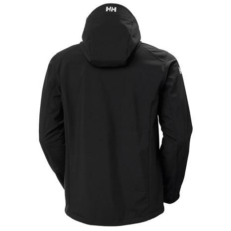 Helly Hansen Paramount Hooded Softshell Jacket - Black - Rear