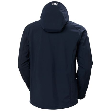 Helly Hansen Paramount Hooded Softshell Jacket - Navy - Rear