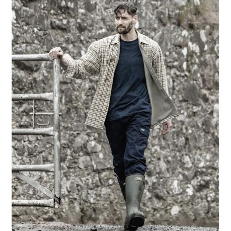 Hoggs of Fife Bark Micro-fleece shirt - Lifestyle - Bracken