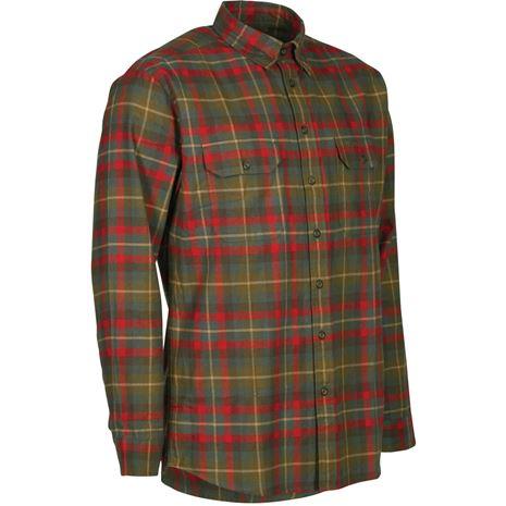 Deerhunter Marlon Shirt L/S - Red Check - Front