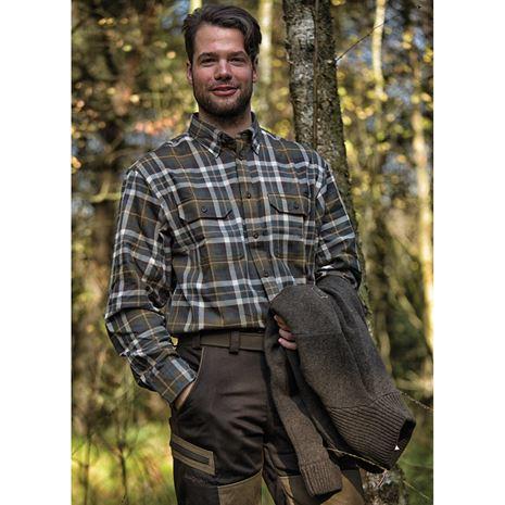 Deerhunter Marlon Shirt L/S - Green Check - Lifestyle