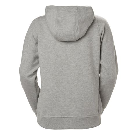 Helly Hansen Womens HH Logo Hoodie - Grey Melange - Rear