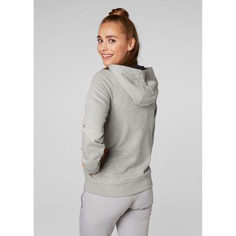 Helly Hansen Womens HH Logo Hoodie - Grey Melange