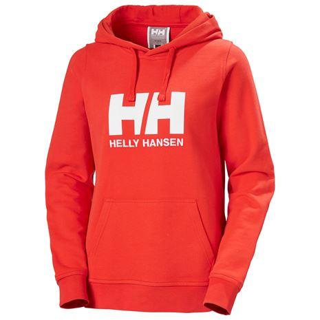 Helly Hansen Womens HH Logo Hoodie - Alert Red
