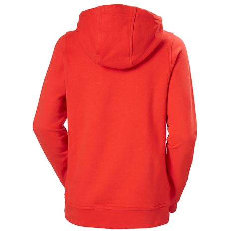 Helly Hansen Womens HH Logo Hoodie - Alert Red - Rear