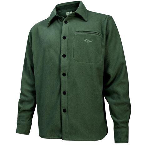 Hoggs of Fife Highland Micro Fleece Shirt - Dark Olive