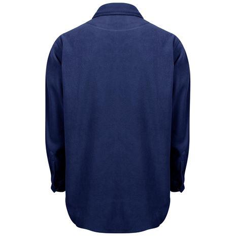 Hoggs of Fife Highland Micro Fleece Shirt - Navy - Rear
