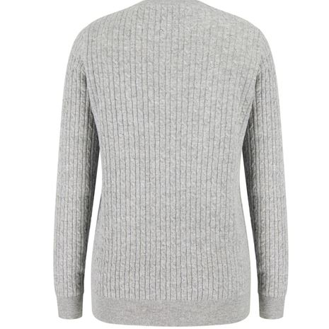 Hoggs of Fife Lauder Ladies Cable Pullover - Grey