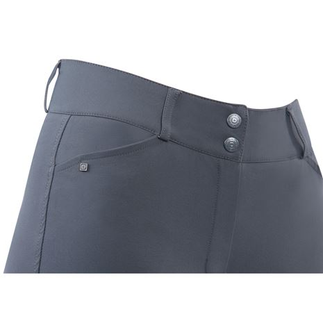 Dublin Pro Form Gel Knee Patch Breeches - Charcoal - Waist detail