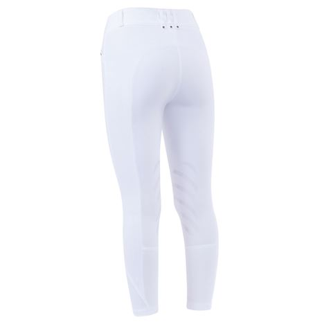 Dublin Pro Form Gel Knee Patch Breeches - White - Rear