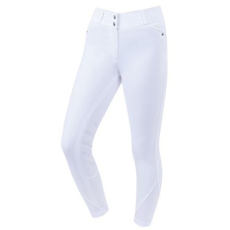 Dublin Pro Form Gel Knee Patch Breeches - White