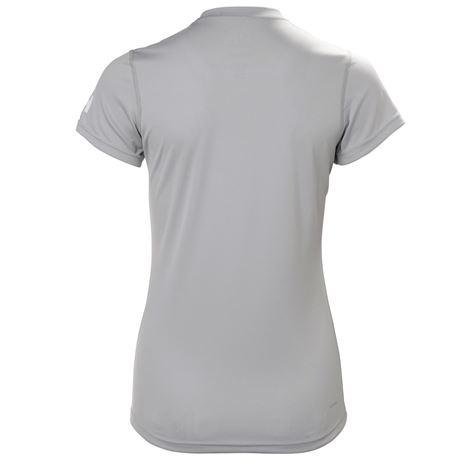 Helly Hansen Womens HH Tech T-Shirt - Light Grey - Rear