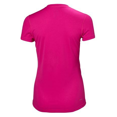 Helly Hansen Womens HH Tech T-Shirt - Dragon Fruit - Rear