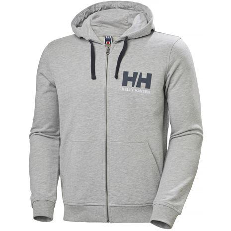 Helly Hansen HH Logo Full Zip Hoodie - Grey Melange