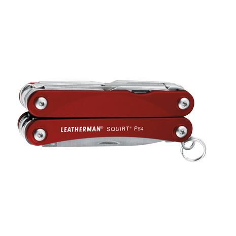 Leatherman Squirt PS4 Keychain Tool - Red - Closed