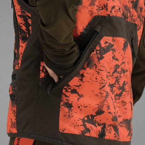 Harkila Wild Boar Pro Safety Waistcoat - AXIS MSP Orange Blaze / Red