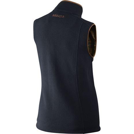 Harkila Sandhem Lady Fleece  waistcoat - Rear Dark Navy Melange
