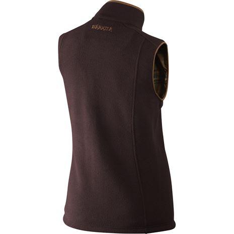 Harkila Sandhem Lady Fleece  waistcoat - Rear Dark Port Melange