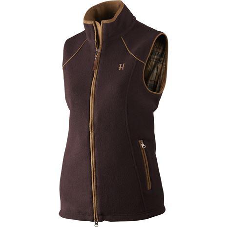 Harkila Sandhem Lady Fleece  waistcoat - Dark Port Melange