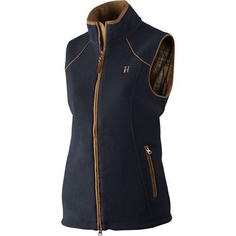 Harkila Sandhem Lady Fleece  waistcoat - Dark Navy Melange