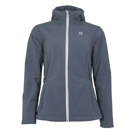 Mark Todd Women's Fleece Lined Softshell Jacket - Grey/Silver