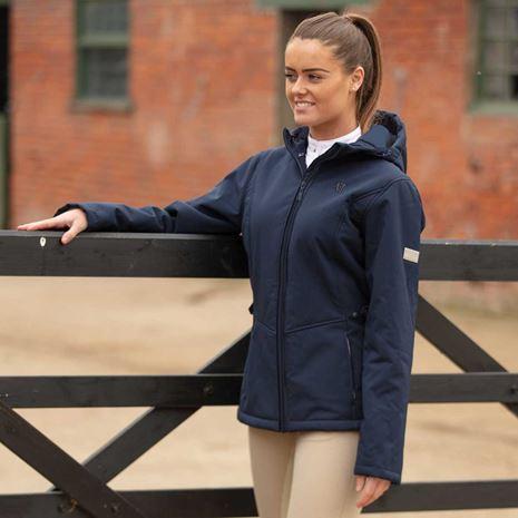 Mark Todd Women's Fleece Lined Softshell Jacket - Navy