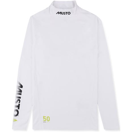 Musto Sunblock Long Sleeve Rash Guard - White