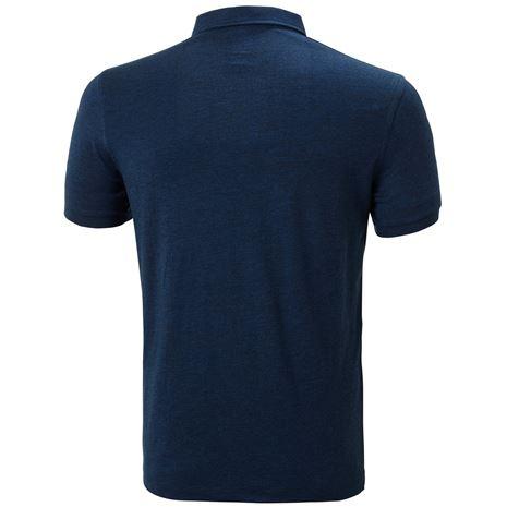 Helly Hansen Fjord Polo Shirt - Navy Melange - Rear