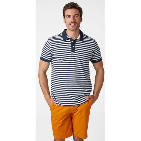 Helly Hansen Fjord Polo Shirt - Navy Stripe