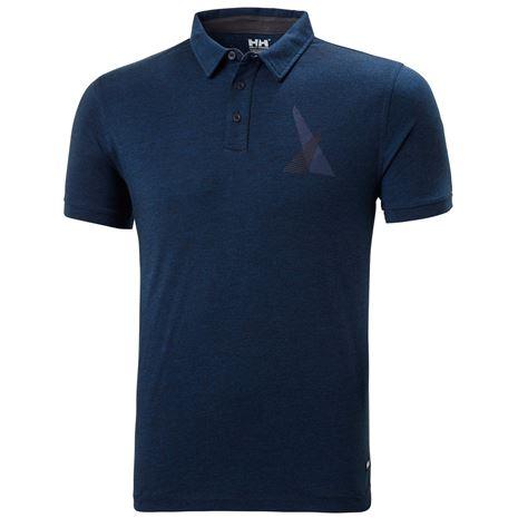 Helly Hansen Fjord Polo Shirt - Navy Melange