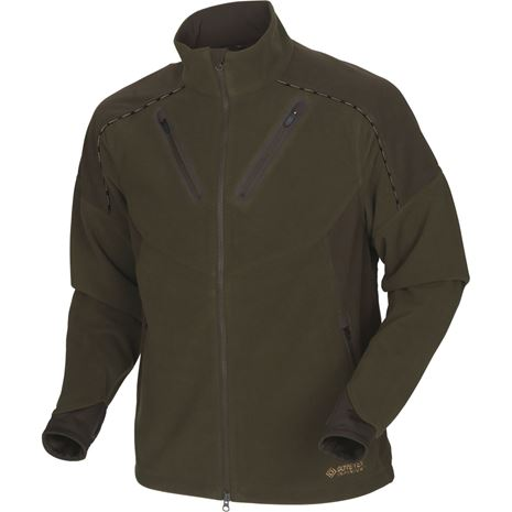 Harkila Mountain Hunter Fleece Jacket - Hunting Green/ Shadow Brown
