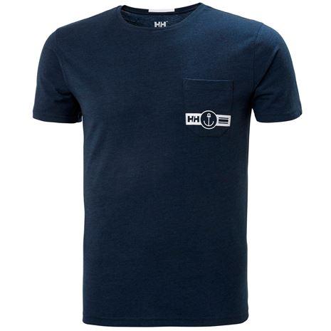Helly Hansen Fjord T Shirt - Navy Melange
