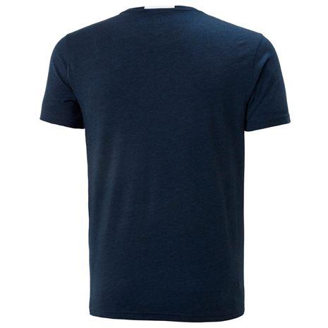 Helly Hansen Fjord T Shirt - Navy Melange - Rear