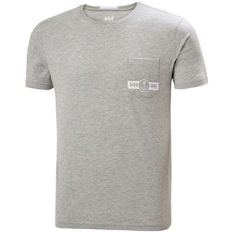 Helly Hansen Fjord T Shirt - Grey Melange