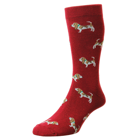 Bisley Hounds Socks - Red