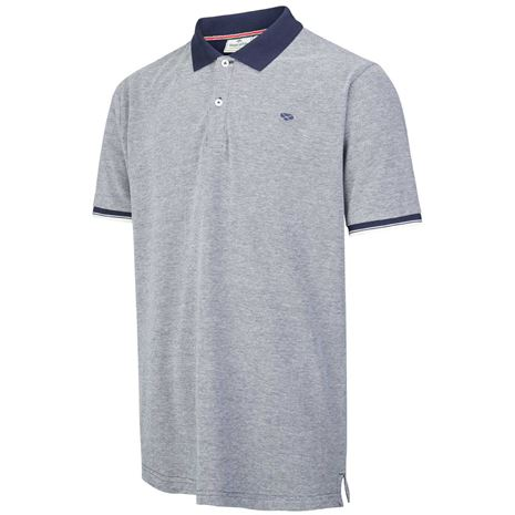 Hoggs of Fife Largs Cotton Polo - Grey Marle