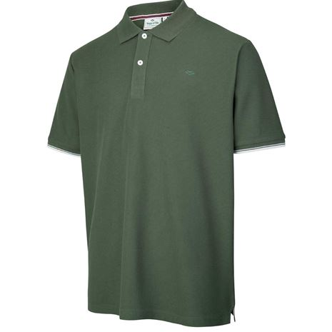 Hoggs of Fife Largs Cotton Polo - Bottle Green