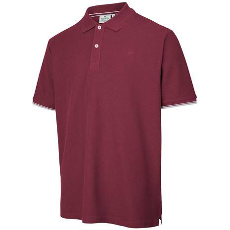 Hoggs of Fife Largs Cotton Polo - Bordeaux